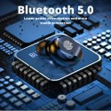 Безжични Слушалки TWS F-9, Bluetooth 5.0, С Powerbank 2000mAh, Черни