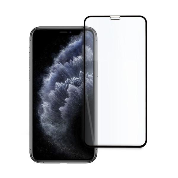 9D цялостен стъклен протектор за iPhone 11 Pro, Hicute, Цяло лепило, Черен