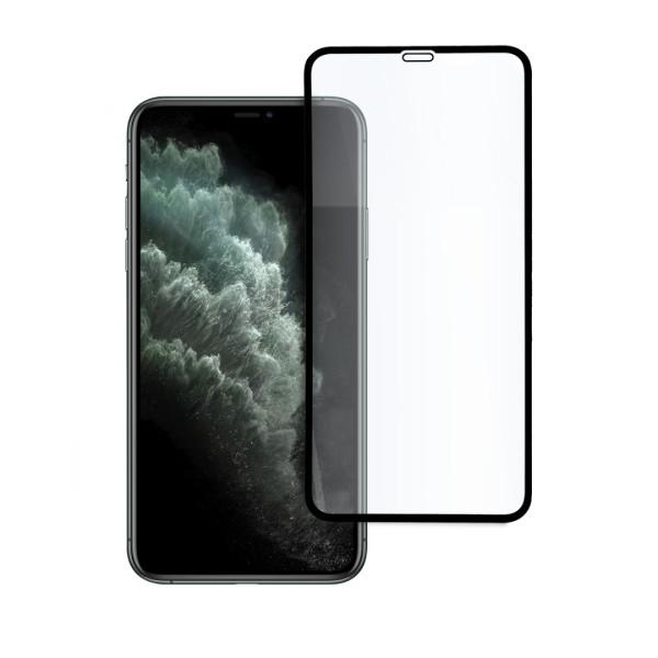 9D цялостен стъклен протектор за iPhone 11 Pro Max, Hicute, Цяло лепило, Черен