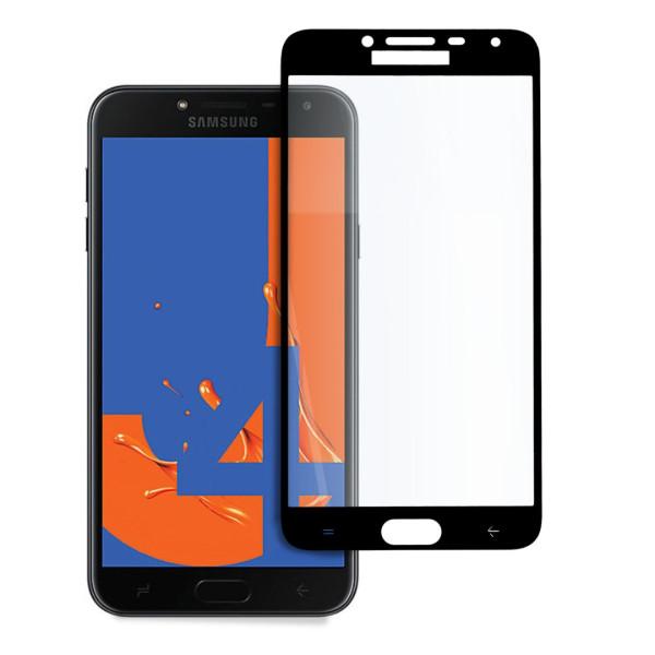 9D цялостен стъклен протектор за Samsung Galaxy J4 (2018), Hicute, Цяло лепило, Черен