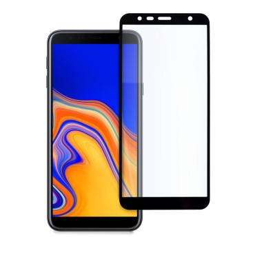 9D цялостен стъклен протектор за Samsung Galaxy J4 Plus (2018), Hicute, Цяло лепило, Черен
