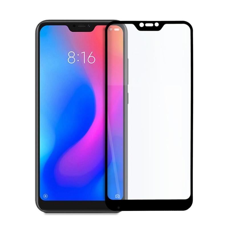 9D цялостен стъклен протектор за Xiaomi Mi A2 Lite, Hicute, Цяло лепило, Черен