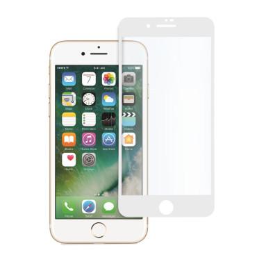 9D цялостен стъклен протектор за iPhone 7, Hicute, Цяло лепило, Бял