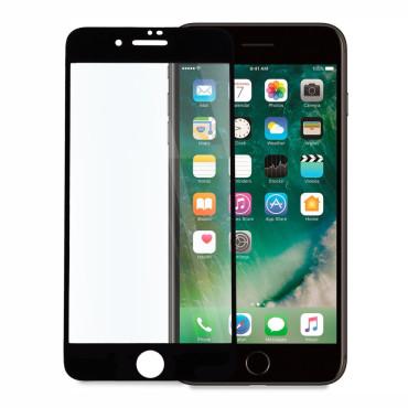 9D цялостен стъклен протектор за iPhone 7 Plus, Hicute, Цяло лепило, Черен