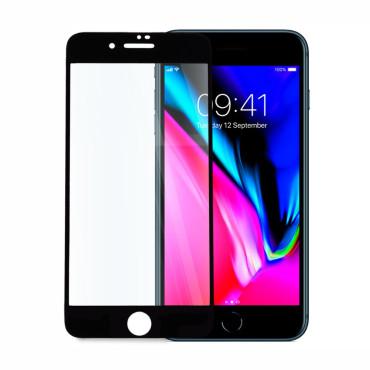 9D цялостен стъклен протектор за iPhone 8 Plus, Hicute, Цяло лепило, Черен