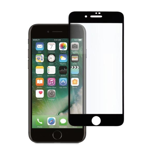 9D цялостен стъклен протектор за iPhone 7, Hicute, Цяло лепило, Черен
