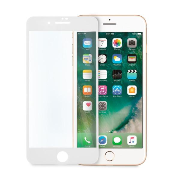9D цялостен стъклен протектор за iPhone 7 Plus, Hicute, Цяло лепило, Бял