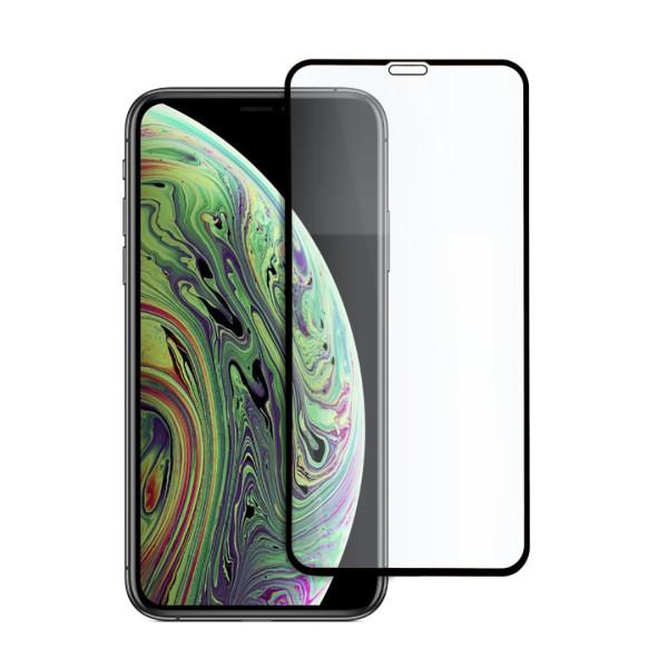 9D цялостен стъклен протектор за iPhone X, Hicute, Цяло лепило, Черен