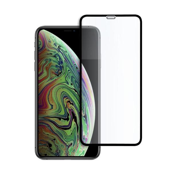 9D цялостен стъклен протектор за iPhone XS Max, Hicute, Цяло лепило, Черен