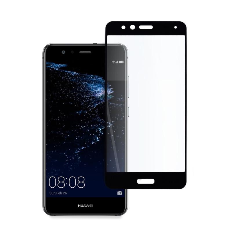9D цялостен стъклен протектор за Huawei P10 Lite, Hicute, Цяло лепило, Черен