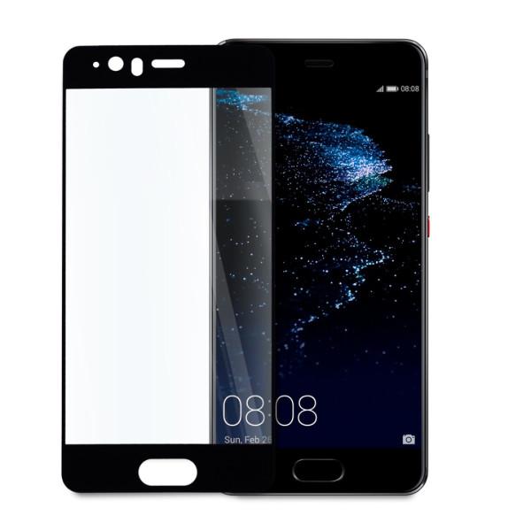 9D цялостен стъклен протектор за Huawei P10 Plus, Tech Armor, Цяло лепило, Черен
