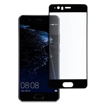 9D цялостен стъклен протектор за Huawei P10, Hicute, Цяло лепило, Черен