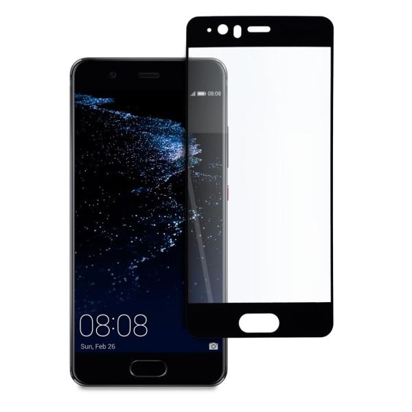 9D цялостен стъклен протектор за Huawei P10, Tech Armor, Цяло лепило, Черен