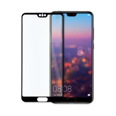 9D цялостен стъклен протектор за Huawei P20, Hicute, Цяло лепило, Черен