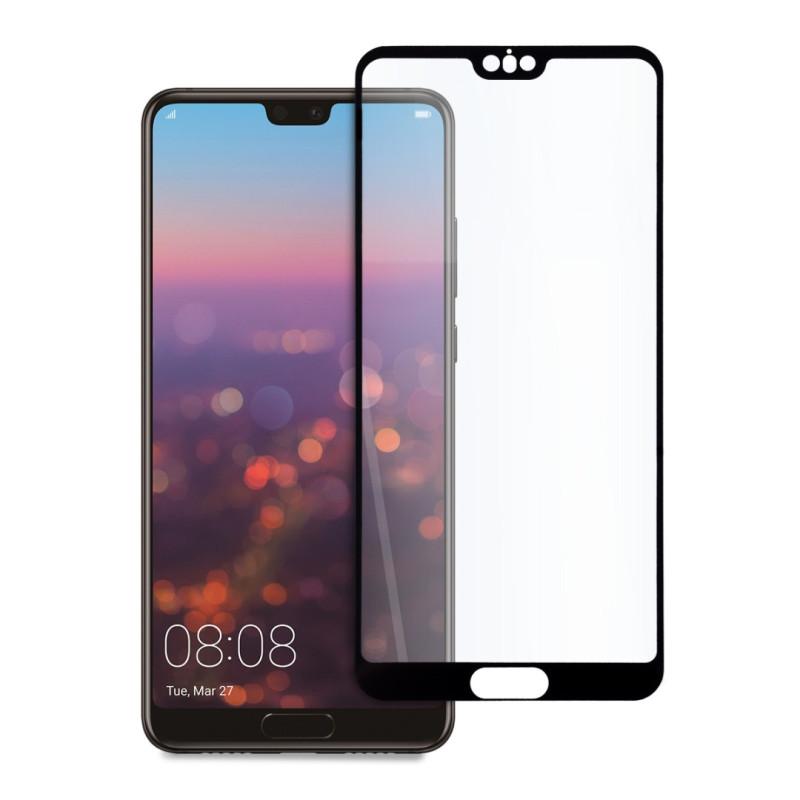 9D цялостен стъклен протектор за Huawei P20 Pro, Hicute, Цяло лепило, Черен