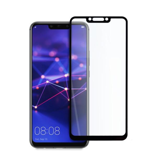 9D цялостен стъклен протектор за Huawei Mate 20 Lite, Hicute, Цяло лепило, Черен