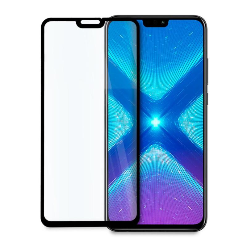 9D цялостен стъклен протектор за Huawei Honor 8X, Hicute, Цяло лепило, Черен
