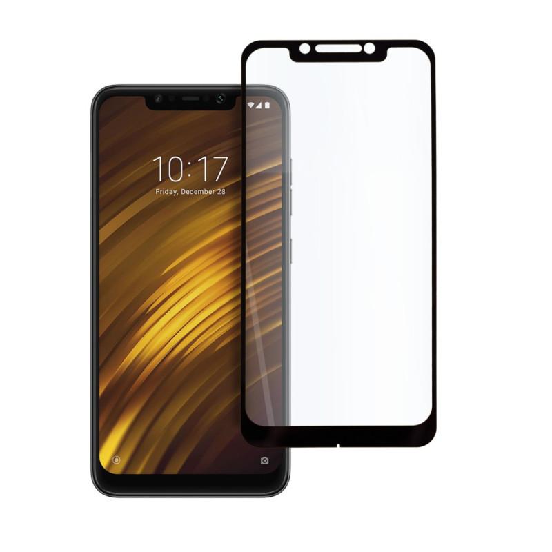 9D цялостен стъклен протектор за Xiaomi Pocophone F1, Hicute, Цяло лепило, Черен