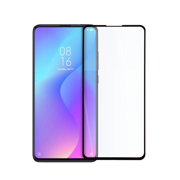 9D цялостен стъклен протектор за Xiaomi Redmi K20, Hicute, Цяло лепило, Черен
