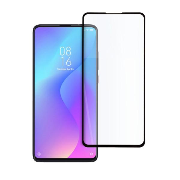 9D цялостен стъклен протектор за Xiaomi Mi 9T, Hicute, Цяло лепило, Черен