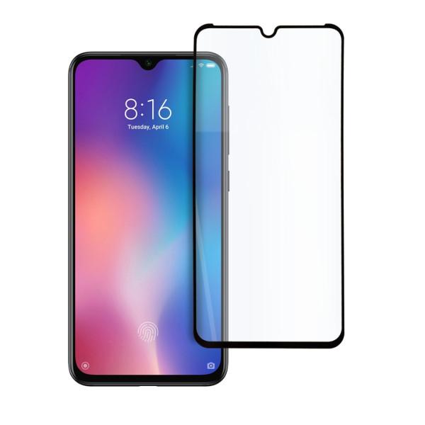 9D цялостен стъклен протектор за Xiaomi Mi 9, Hicute, Цяло лепило, Черен