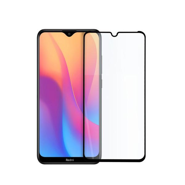 9D цялостен стъклен протектор за Xiaomi Redmi 8A, Hicute, Цяло лепило, Черен
