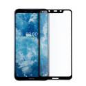 9D цялостен стъклен протектор за Nokia 8.1, Hicute, Цяло лепило, Черен