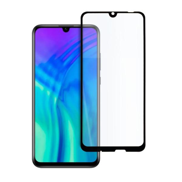9D цялостен стъклен протектор за Huawei Honor 20 Lite, Hicute, Цяло лепило, Черен