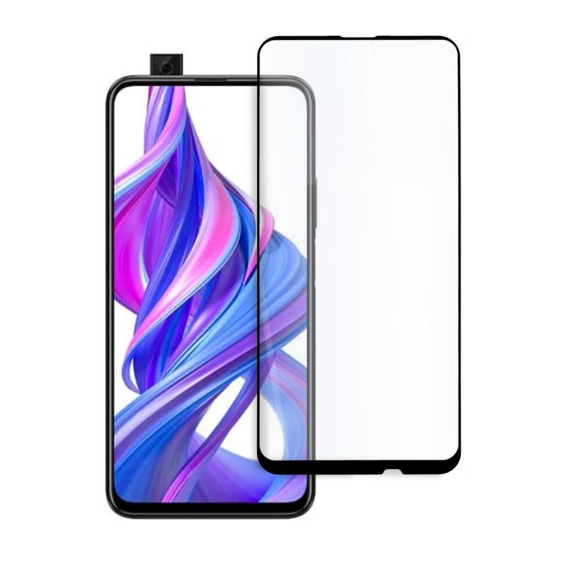 9D цялостен стъклен протектор за Huawei P Smart Z (2019), Hicute, Цяло лепило, Черен