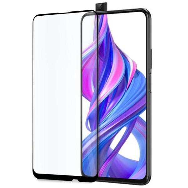 9D цялостен стъклен протектор за Huawei Honor 9X Pro, Hicute, Цяло лепило, Черен