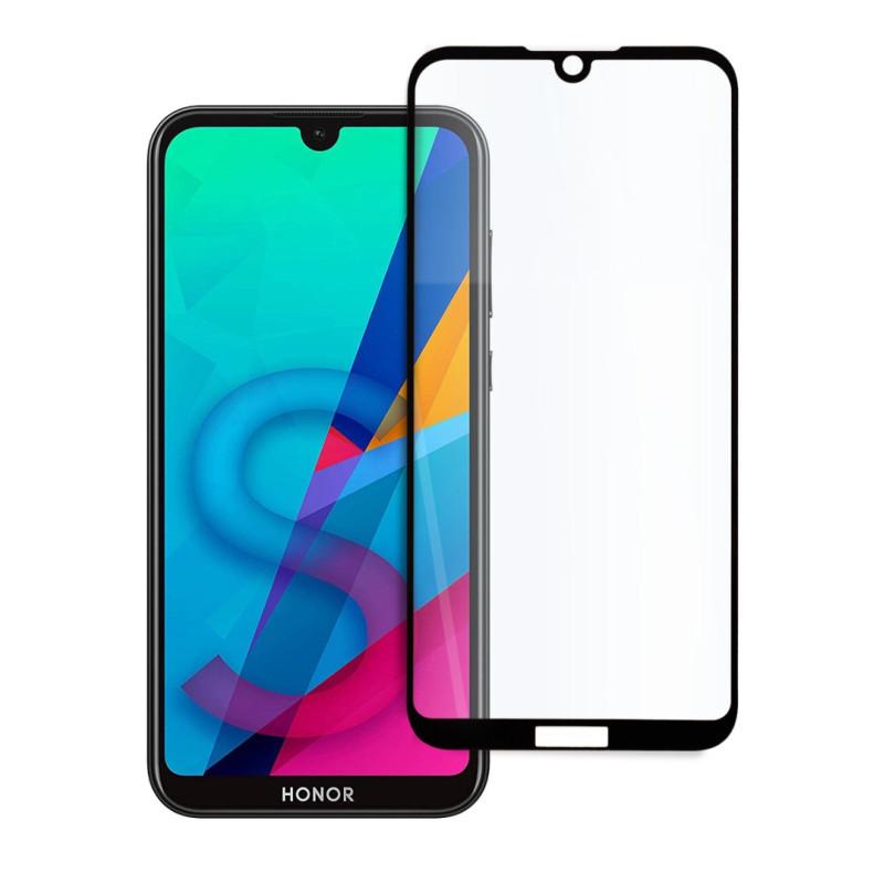 9D цялостен стъклен протектор за Huawei Y5 (2019), Hicute, Цяло лепило, Черен