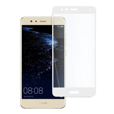 9D цялостен стъклен протектор за Huawei P10 Lite, Hicute, Цяло лепило, Бял