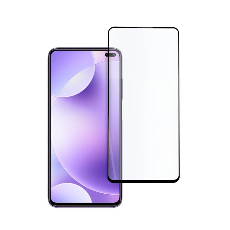 9D цялостен стъклен протектор за Xiaomi Redmi K30, Hicute, Цяло лепило, Черен
