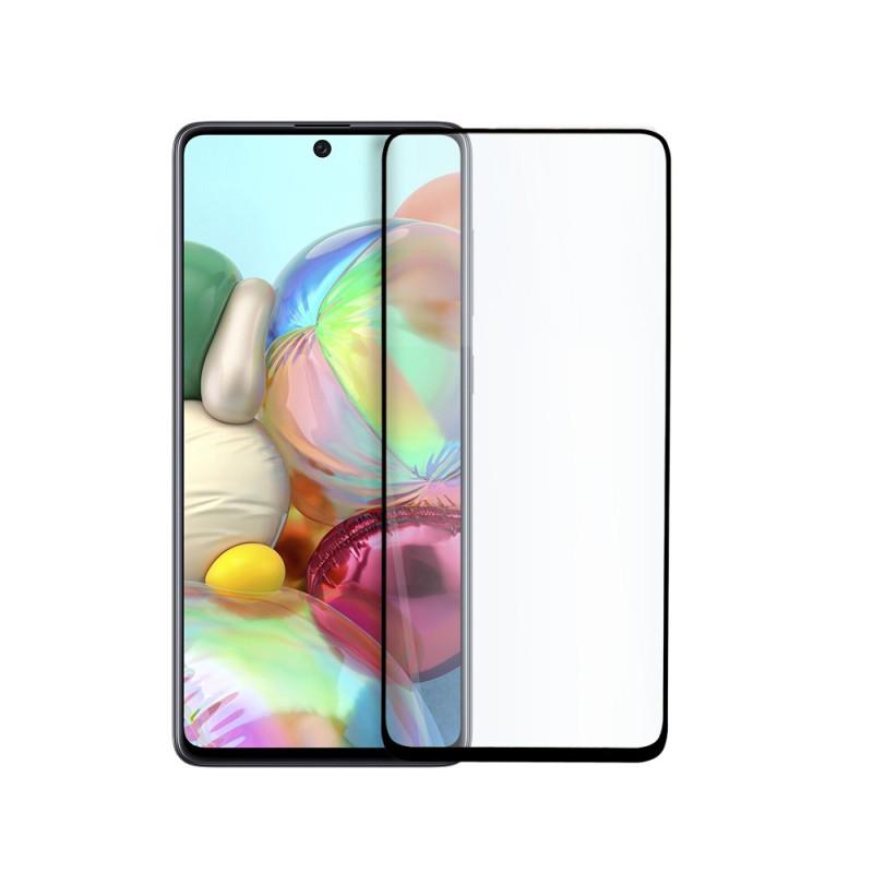 9D цялостен стъклен протектор за Samsung Galaxy A71, Hicute, Цяло лепило, Черен