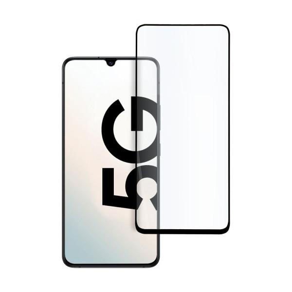 9D цялостен стъклен протектор за Samsung Galaxy A90, Hicute, Цяло лепило, Черен
