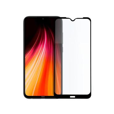 9D цялостен стъклен протектор за Xiaomi Redmi Note 8, Hicute, Цяло лепило, Черен