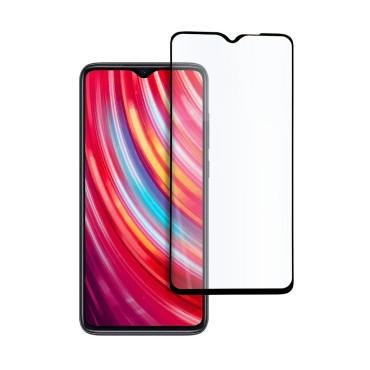 9D цялостен стъклен протектор за Xiaomi Redmi Note 8 Pro, Hicute, Цяло лепило, Черен