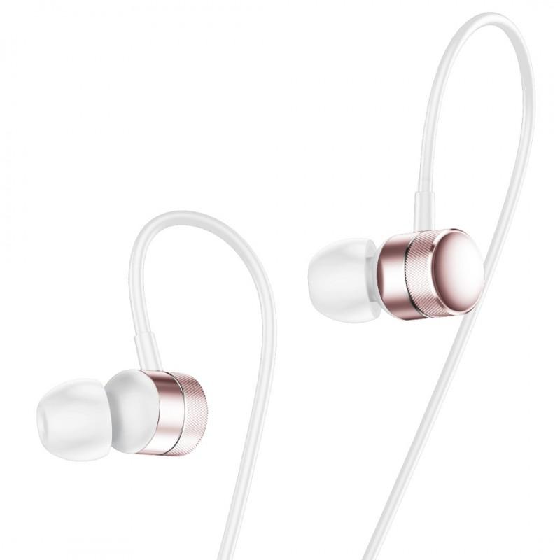 Слушалки Baseus Encok-H04 с тапи и вграден микрофон, Тип In-ear, Розово злато