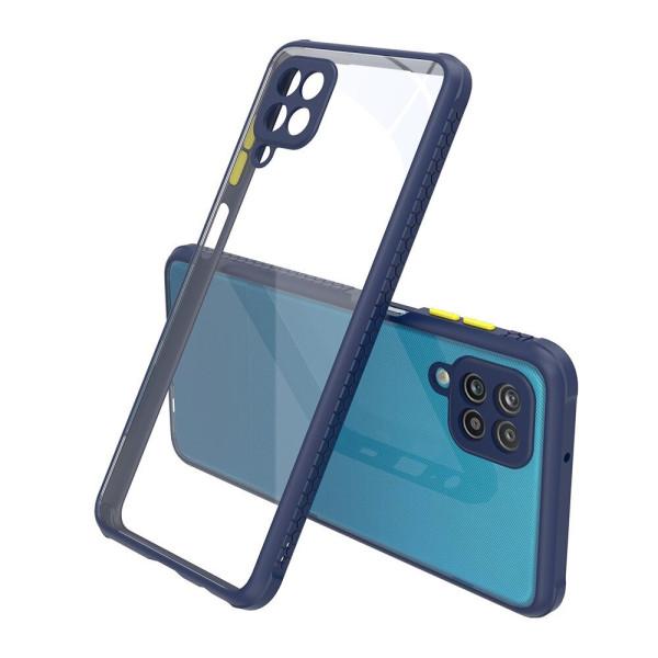 Удароустойчив Кейс за Samsung Galaxy A42, Гумирани краища, Прозрачен, Защита за камерата, Син
