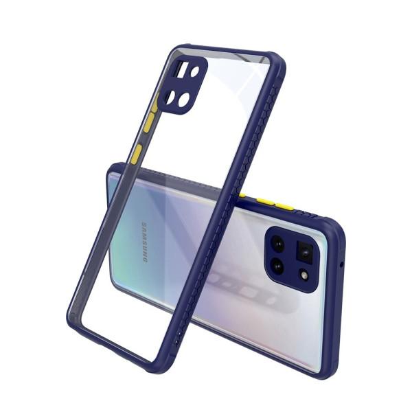Удароустойчив Кейс за Samsung Galaxy Note 10 Lite, Гумирани краища, Прозрачен, Защита за камерата, Син